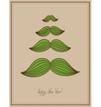 Mustache tree christmas card hipster style concept vector