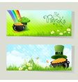 Set of st patricks day cards vector