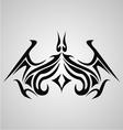 Tribal bat tattoo vector