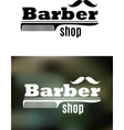 Retro barber shop emblem vector