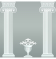 Classical greek or roman columns and vase vector