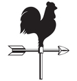 Rooster weather vane vector
