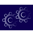 Symbol of the cogwheels vector