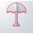 Summer travel paper umbrella flat icon vector