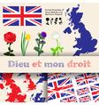 England floral symbols vector