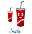 Cartoon cola or soda character vector