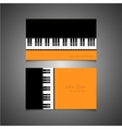 Modern piano banners on gray background vector