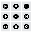 Media buttons icon set vector