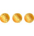 Gold pattern medal vector