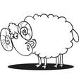 Cartoon of happy ram for coloring book vector