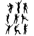 Collection of dancing young men vector
