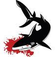 Gray shark vector