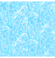 Seamless summer ice cream pattern grunge ice vector