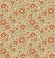 Abstract flowers seamless texture with flowers vector