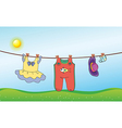 A childs washed clothing vector