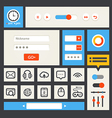 Web interface template vector