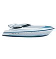Luxe speed yacht vector