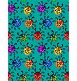 Ladybug seamless pattern vector
