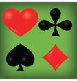 Playing cards elements vector