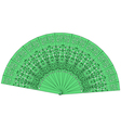 Green fan isolated on a white background vector