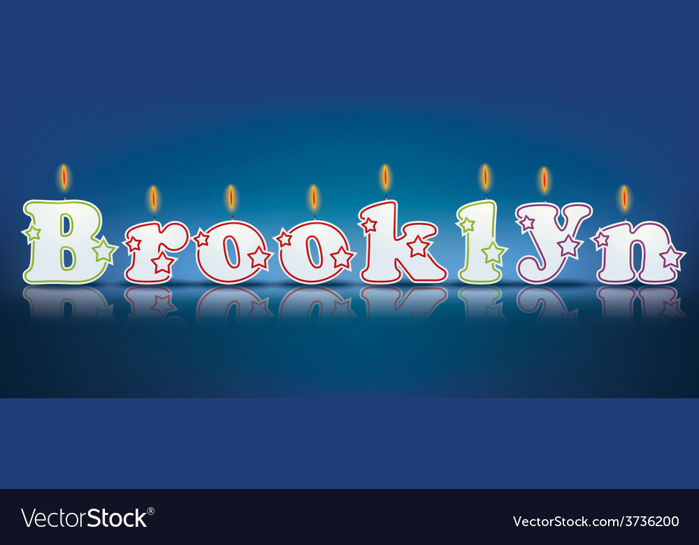 Brooklyn written with burning candles vector   Price: 1 Credit (USD $1)