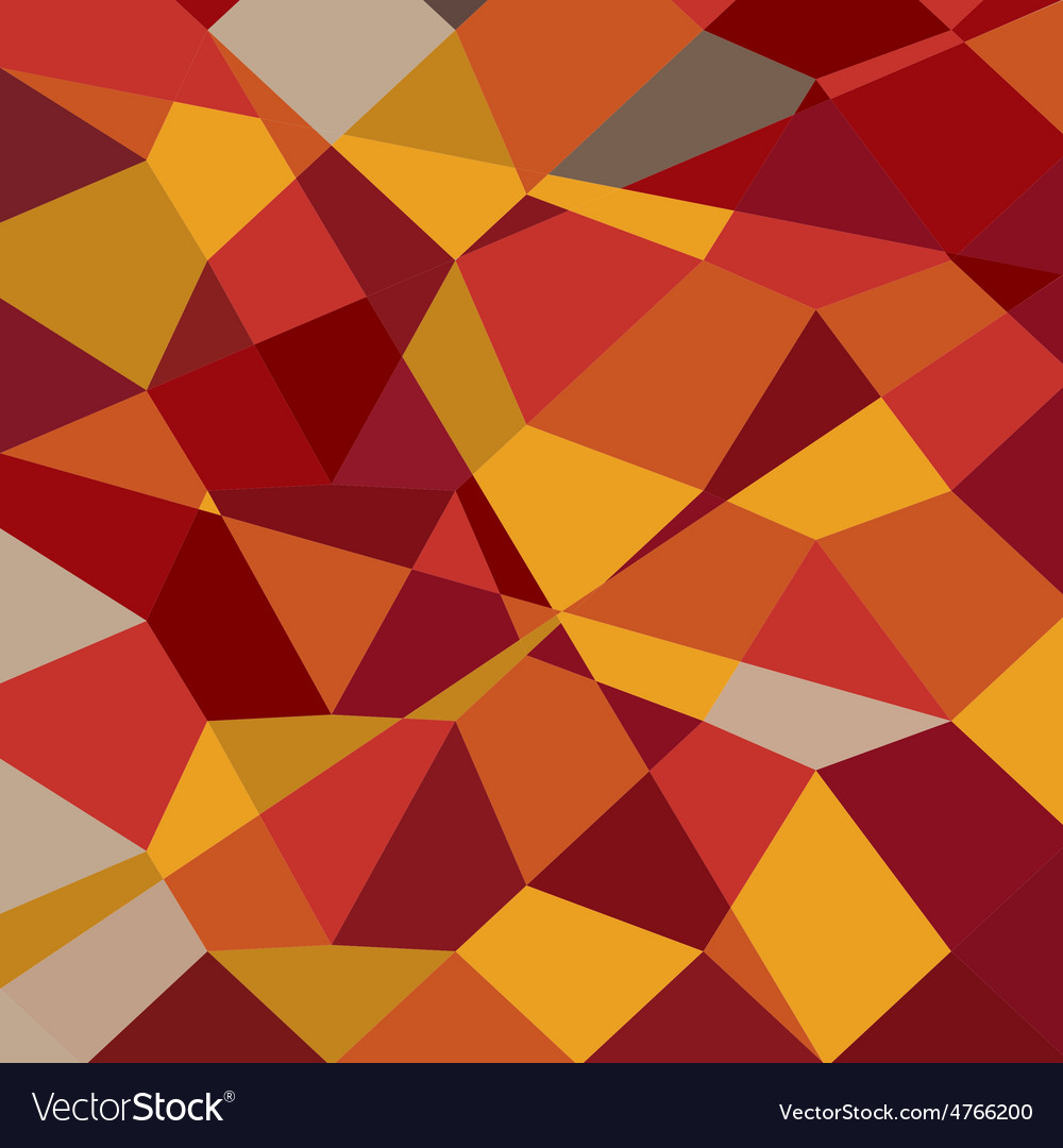 Carnelian red abstract low polygon background vector | Price: 1 Credit (USD $1)