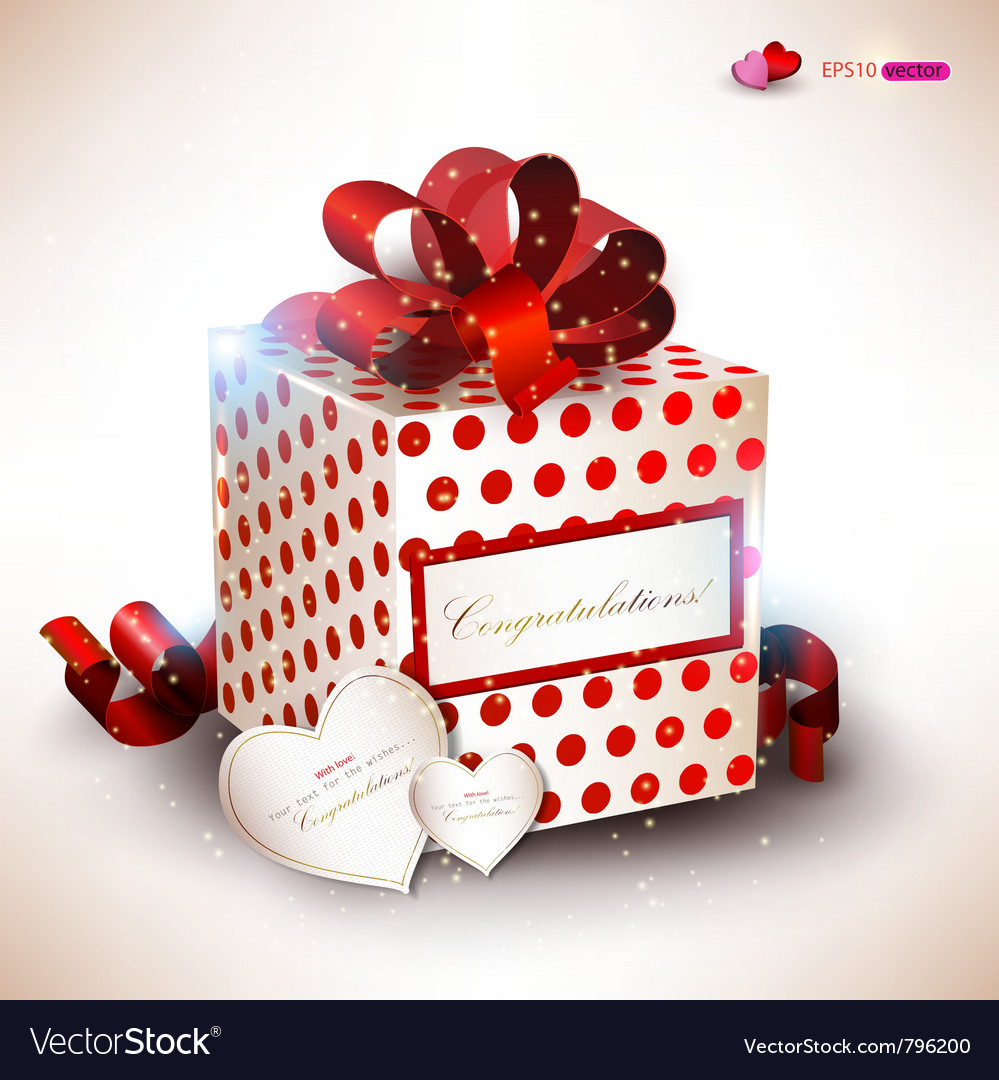 Elegant valentines gift vector | Price: 1 Credit (USD $1)