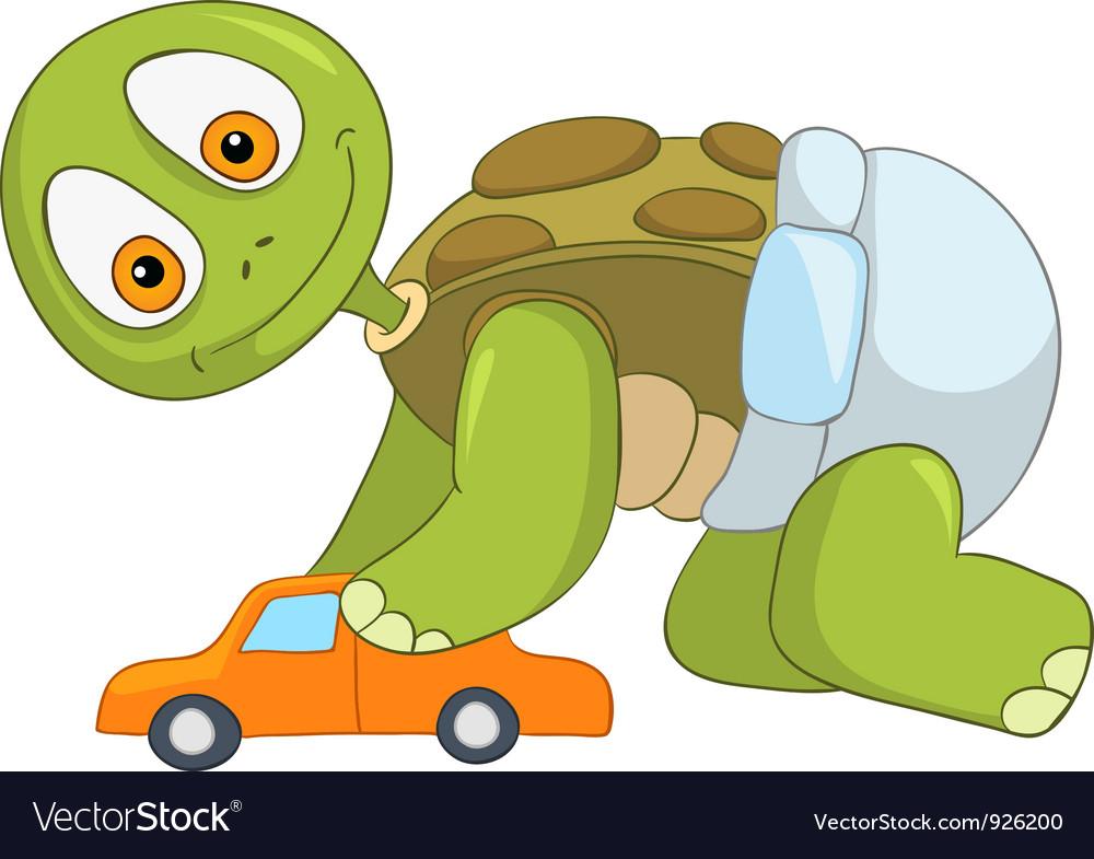 Funny turtle baby boy vector | Price: 3 Credit (USD $3)
