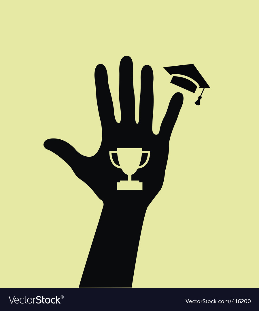 Graduated hand vector | Price: 1 Credit (USD $1)