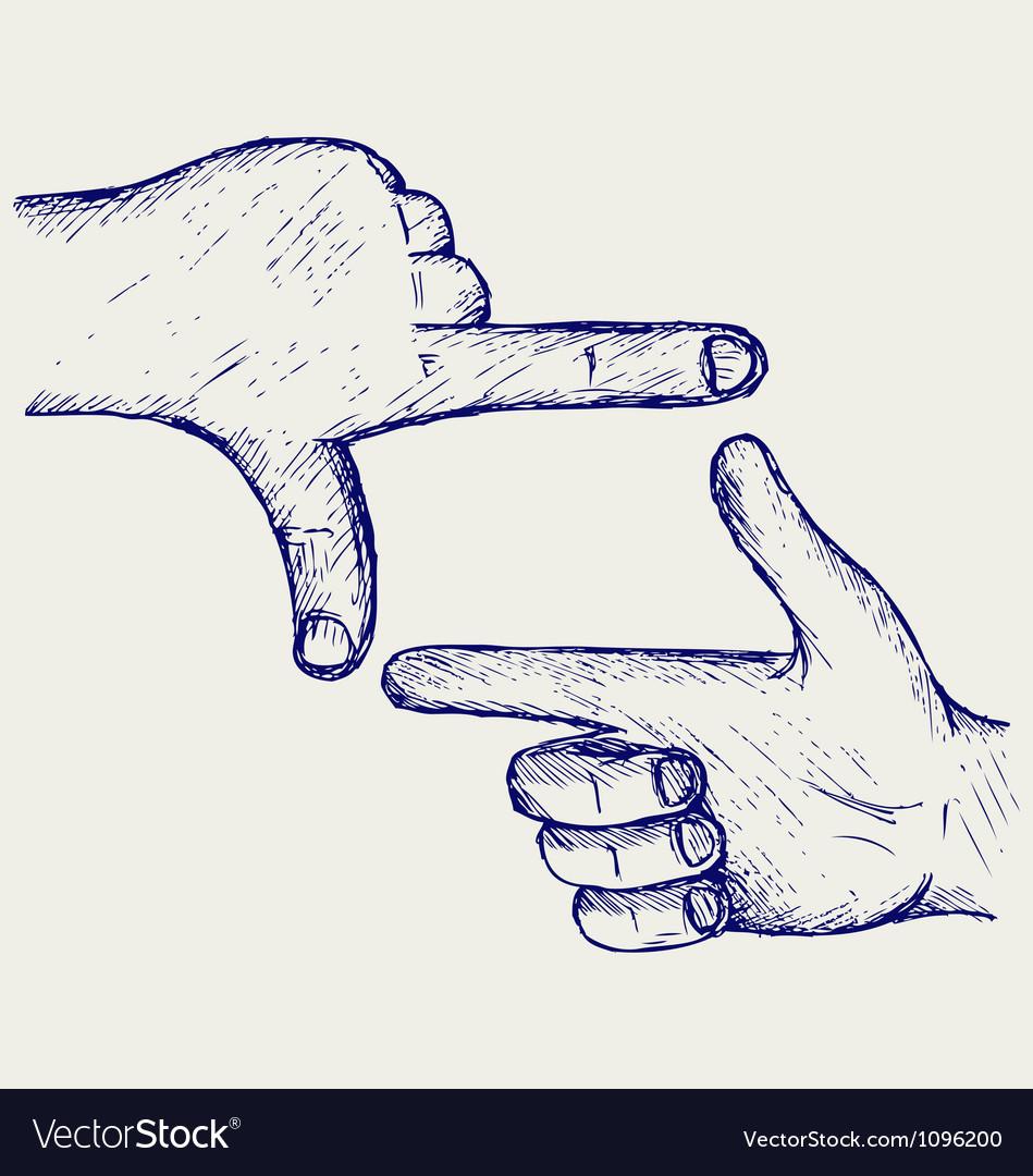 Hand symbol frame vector   Price: 1 Credit (USD $1)