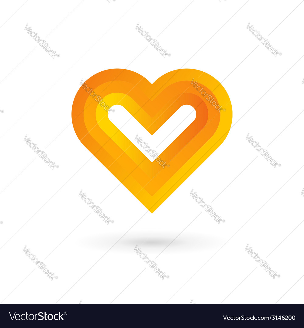 Heart symbol logo icon design template vector | Price: 1 Credit (USD $1)