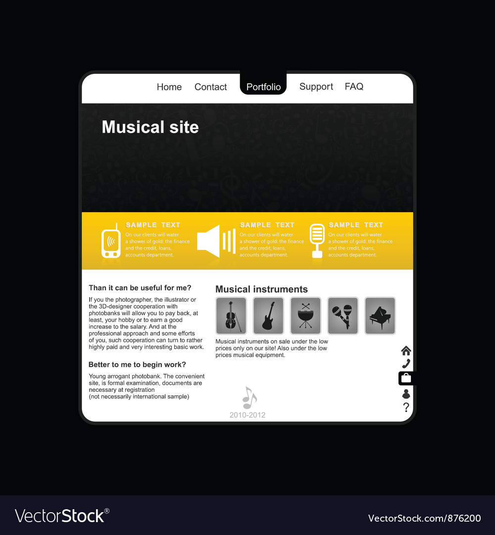 Musical site2 vector | Price: 1 Credit (USD $1)