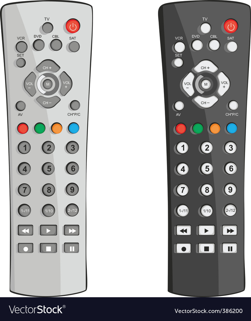 Remote controls vector | Price: 1 Credit (USD $1)