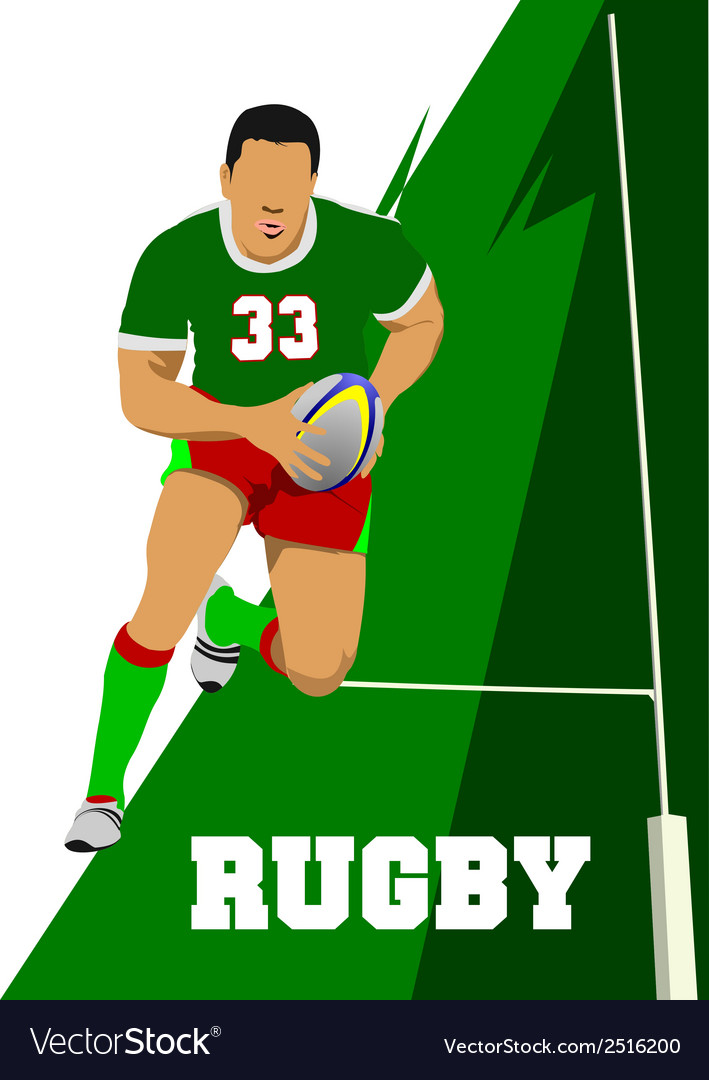 Rugby vector | Price: 1 Credit (USD $1)