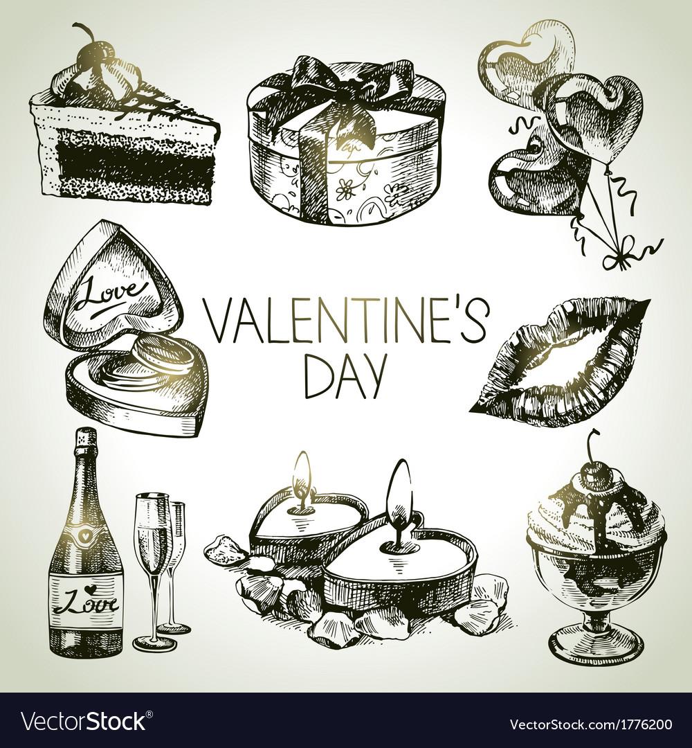 Set of valentines day vector | Price: 1 Credit (USD $1)