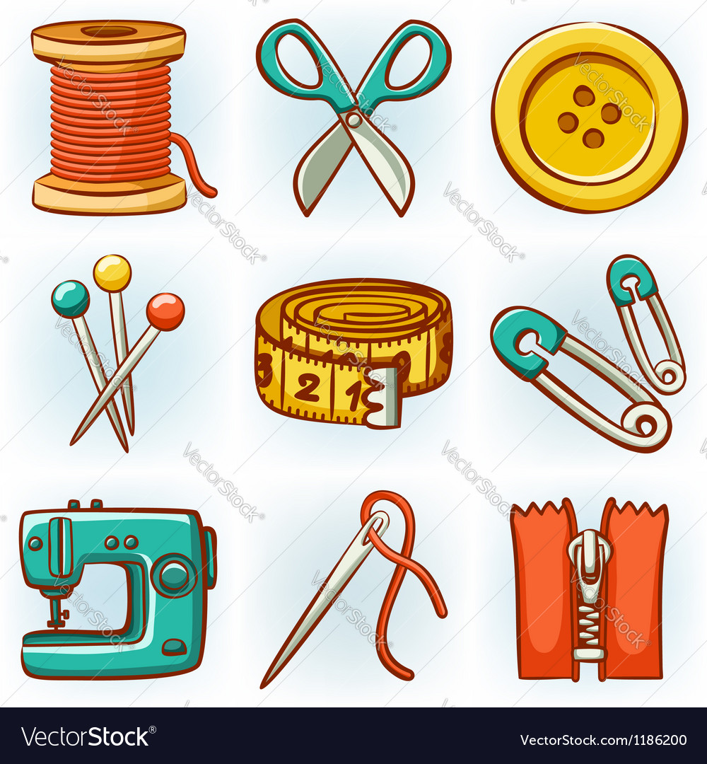 Sewing set vector | Price: 3 Credit (USD $3)