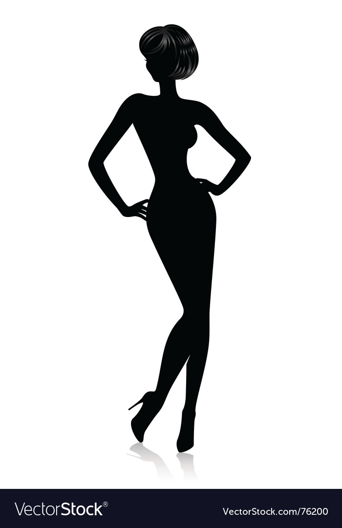 Sexy silhouette vector | Price: 1 Credit (USD $1)