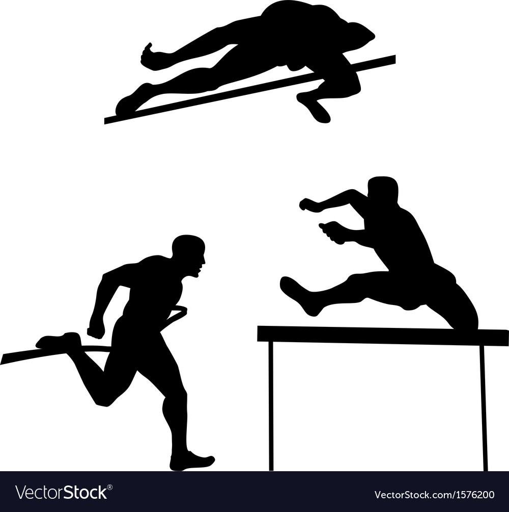 Track and field vector | Price: 1 Credit (USD $1)