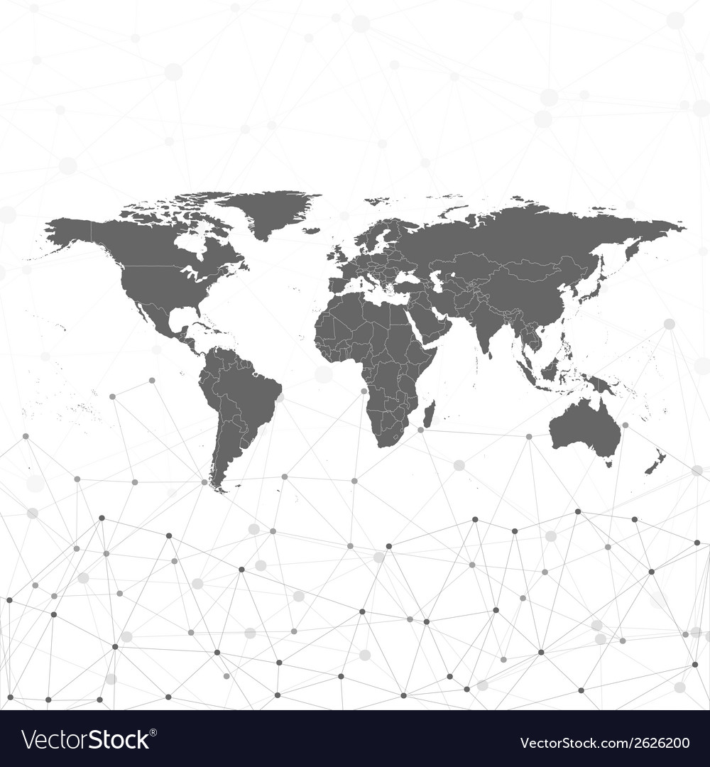 World map  for communication vector | Price: 1 Credit (USD $1)