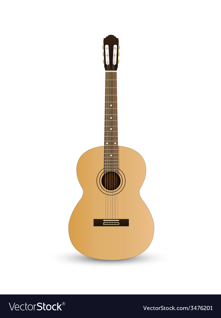 Acoustic classic guitar vector | Price: 1 Credit (USD $1)