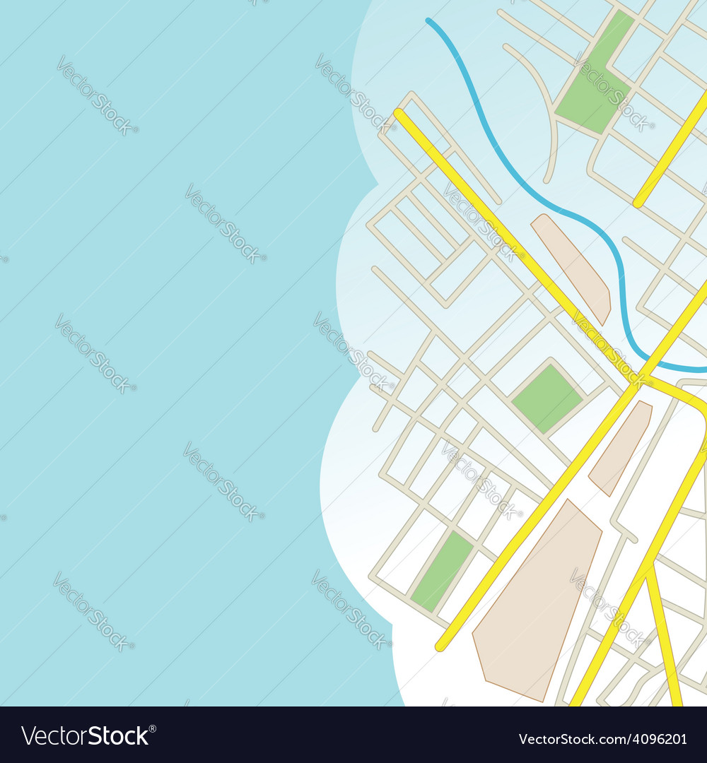 Blue background with part of city map vector | Price: 1 Credit (USD $1)