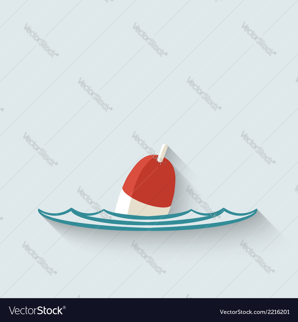 Bobber fishing background vector | Price: 1 Credit (USD $1)