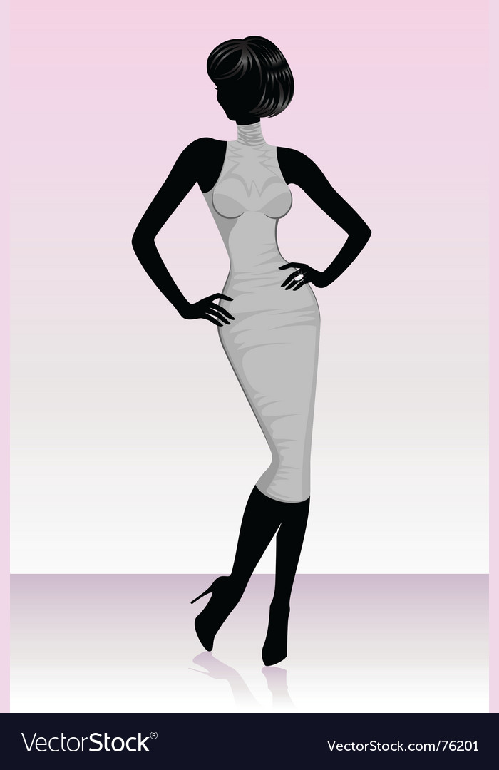 Catwalk model vector | Price: 1 Credit (USD $1)