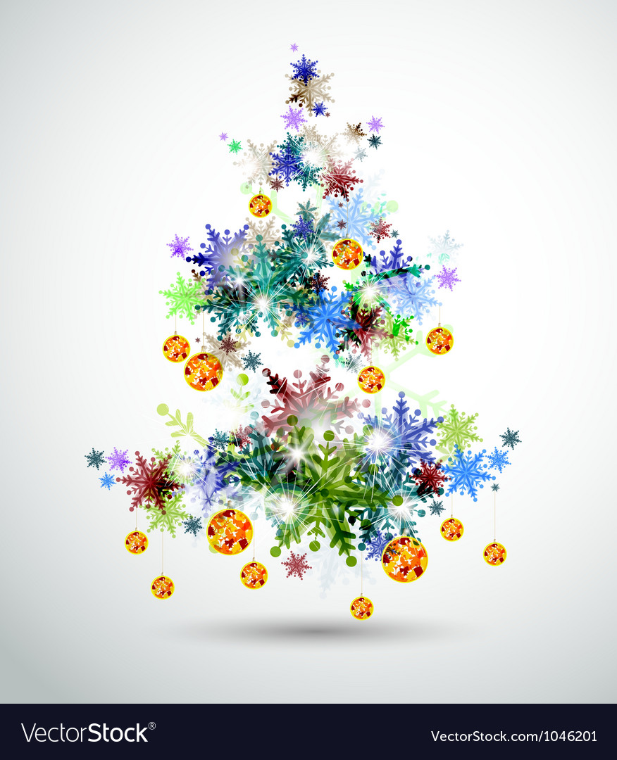 Christmas background with abstract fir vector | Price: 1 Credit (USD $1)