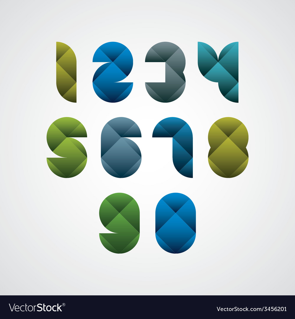 Colorful spherical geometric sectored numbers with vector | Price: 1 Credit (USD $1)