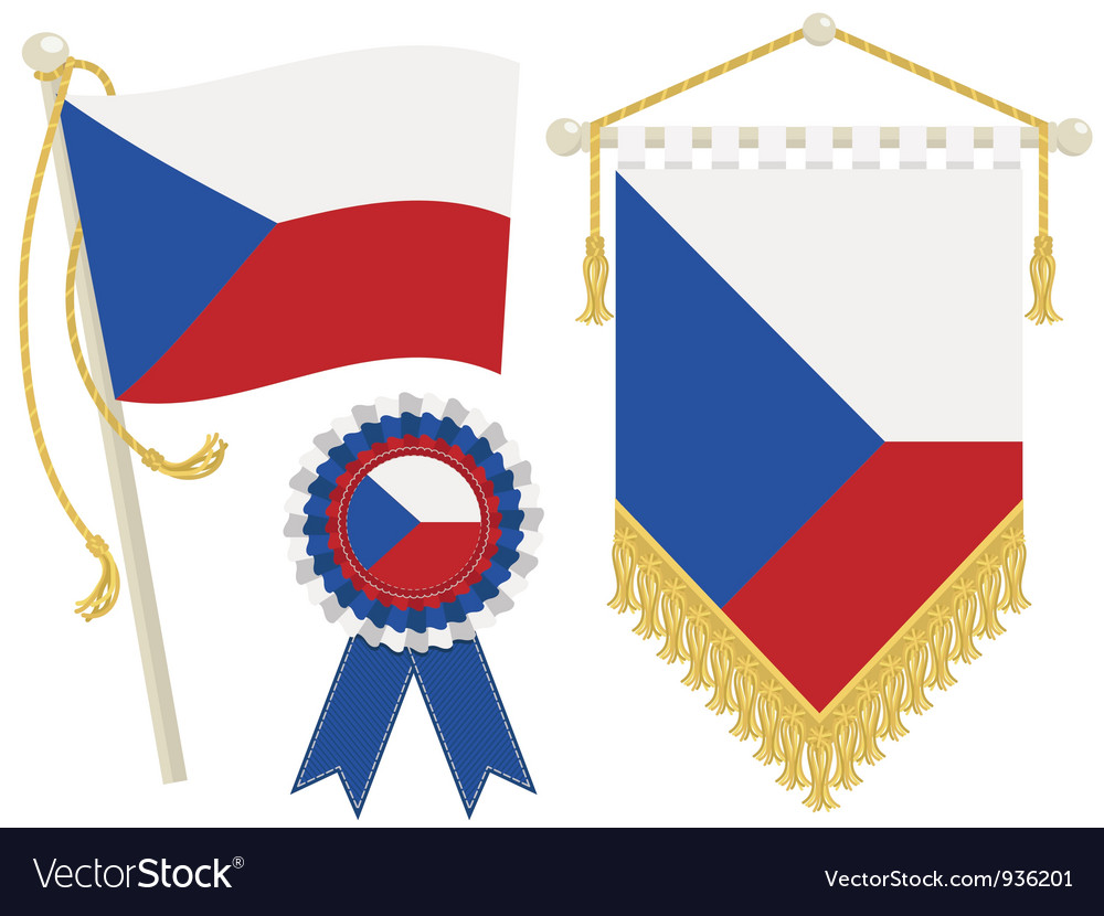 Czech republic flags vector | Price: 1 Credit (USD $1)