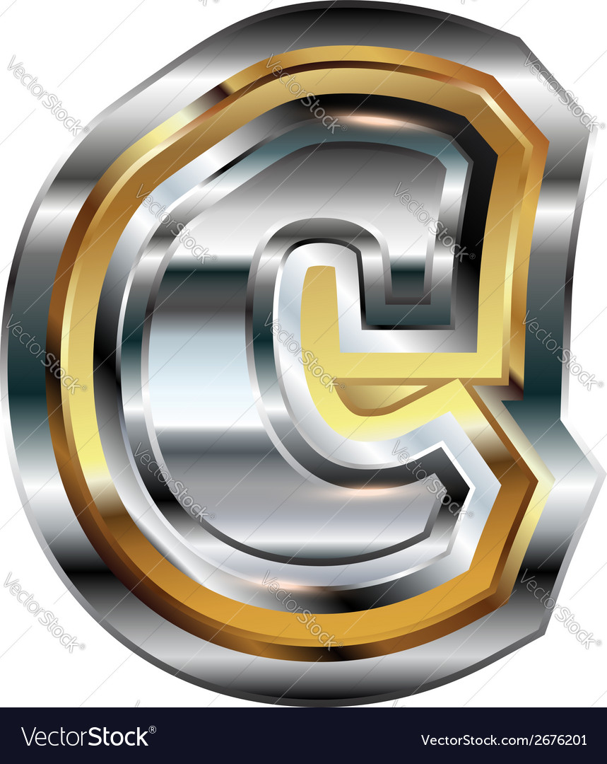 Fancy font letter c vector | Price: 1 Credit (USD $1)