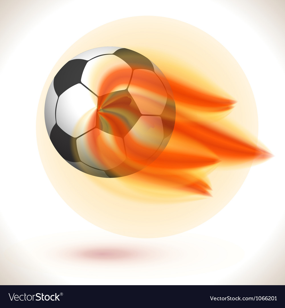 Fire flaming soccer ball vector | Price: 1 Credit (USD $1)