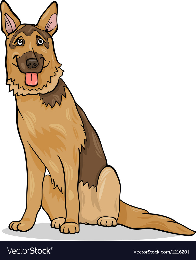 German shepherd dog cartoon vector | Price: 1 Credit (USD $1)