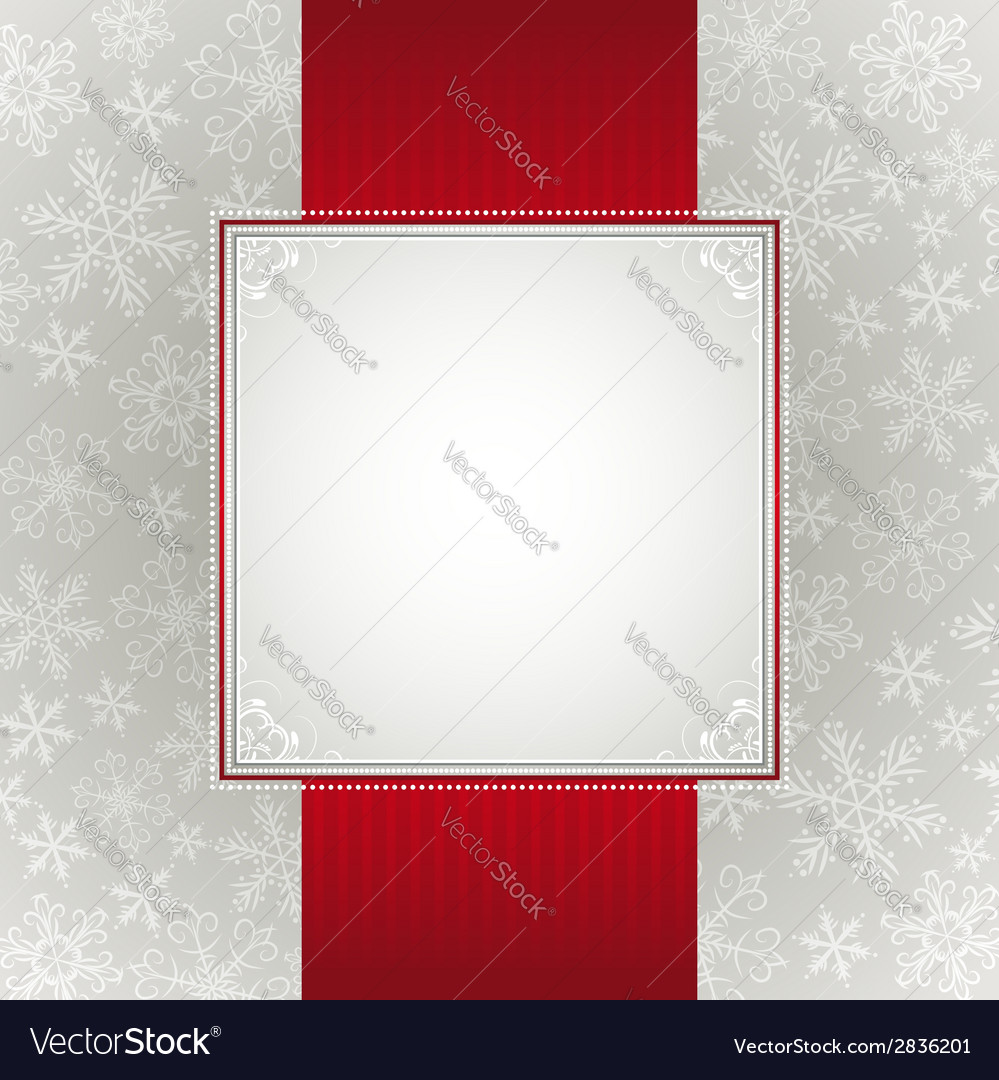 Grey christmas background with snowflakes vector | Price: 1 Credit (USD $1)